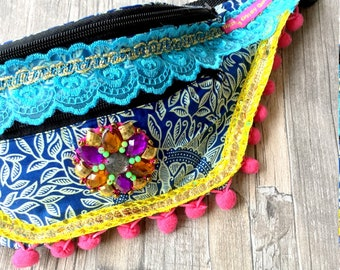 Festival Bum Bag, Boho Fanny pack, waist bag, money belt by Dazzling Gypsy Queen.