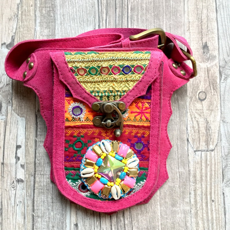 Gypsy leather Hip Bag Festival Bag boho fanny pack waist image 0