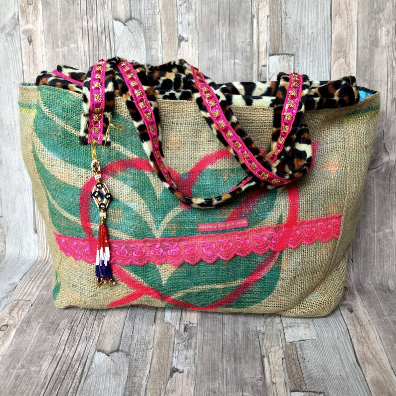 Ibiza beach bag with Leopard print by Dazzling Gypsy Queen image 0