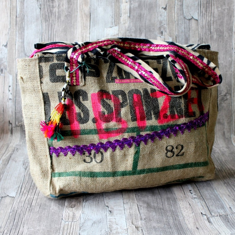 Ibiza beach bag with Zebra print by Dazzling Gypsy Queen image 0
