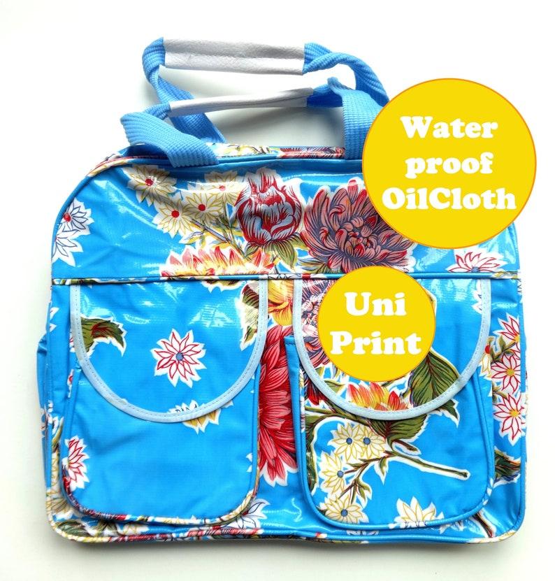 Weekender Mexican Oilcloth  weekendbag  baby stuff bag  image 0