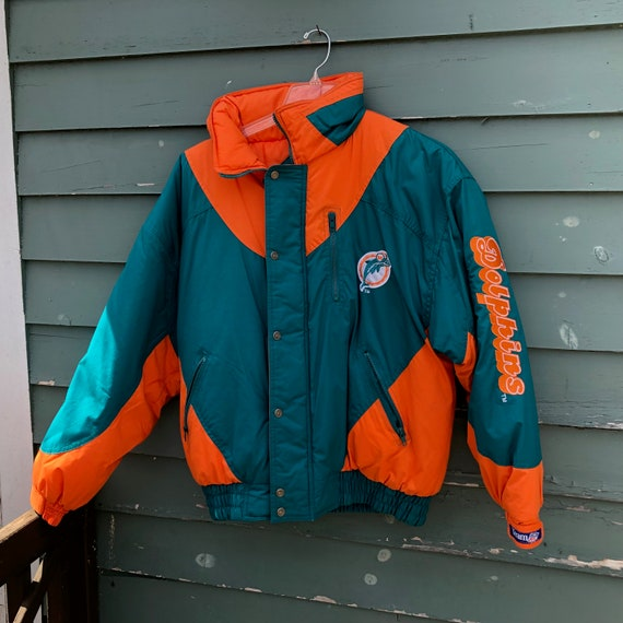69d4ca645a8 Vintage Triple Fat Goose Miami Dolphins Jacket Size XL EMBROIDERED NFL  Football