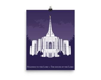 Gilbert Arizonaz Temple Poster