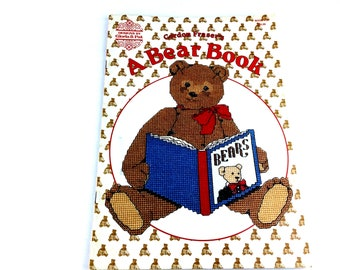 Teddy Bear Cross Stitch, Cross Stitch Pattern, Teddy Bear Book, Pattern, Balloon Bear, Teddy Bear Picture, Embroidery, Gordon Fraser