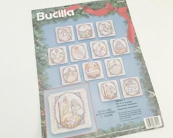 Cross Stitch, Christmas Ornaments, Nativity Scene, Cross Stitch Kit, Bucilla 83045, Baby Jesus, Tree Ornaments, Ornament Kit, Make Ornaments