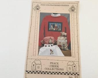 Applique Pattern, Quilt Pattern, Bird Pattern, Snowman Pattern, Christmas Pattern, Birdhouse Pattern, Peace Creek, Embellishment