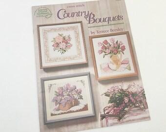 Cross Stitch Pattern, Floral Cross Stitch, Tulip Pattern, Bouquet, Nasturtium Pattern, Lilac Pattern, Iris Pattern, Pansy Pattern, Sunflower