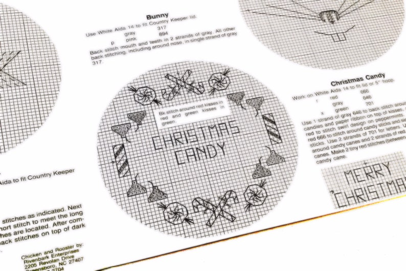 Circle sampler Christmas Pattern Bunny Pattern Jar Toppers Hoop Designs Cookie Jar Cross Stitch Pattern Country Cross Stitch