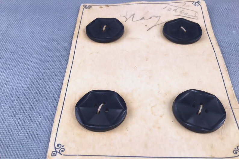 Vintage Buttons, Buttons on Card, Navy Buttons, Vintage Navy Button, Dark  Navy Button, Antique Buttons, Collectible Button, Victorian Button