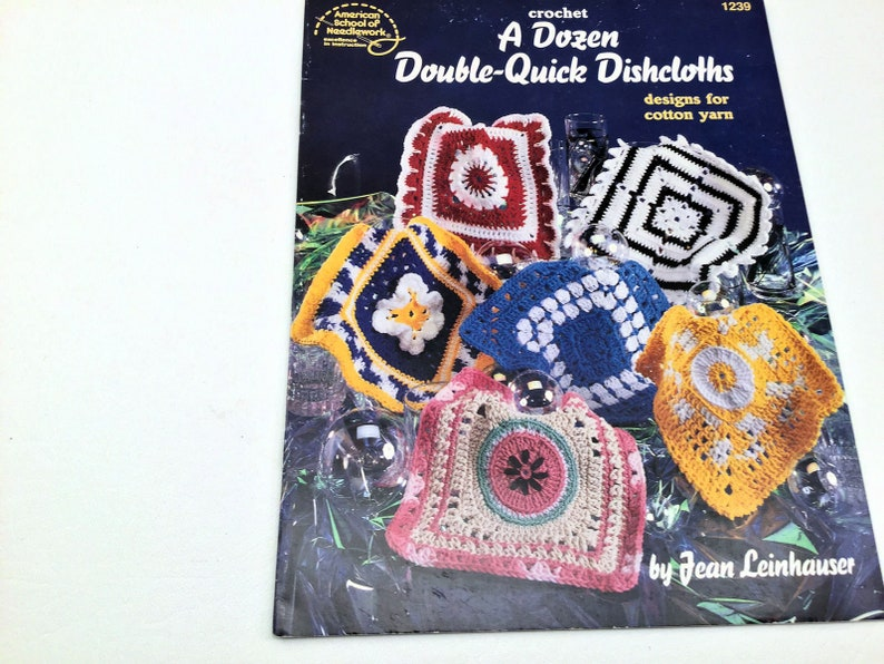 Quick Crochet Dishcloths Dishcloth Pattern Crochet Etsy