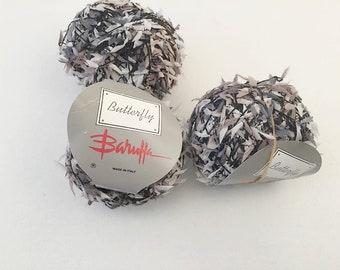 Barufa Yarn, Butterfly Yarn, Lace Weight Art, Fibre Art, Black Yarn, Beige Yarn, Yarn Fiber, Baruffa Italy, Specialty Yarn, Hand Knitting
