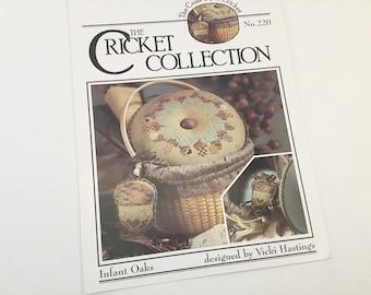 Cross Stitch Pattern, Cricket Collection, Acorn Pattern, Acorn Cross Stitch, Fall Pattern, Autumn Pattern, Acorn Ornament, Oak Leaves
