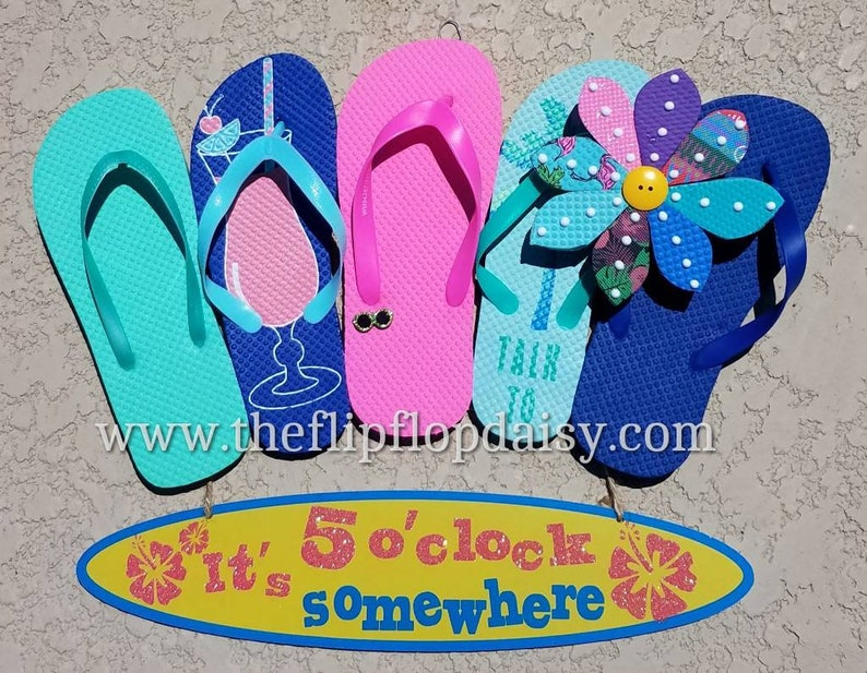 CUTE  It's 5 O'clock Somewhere Flip Flop image 0