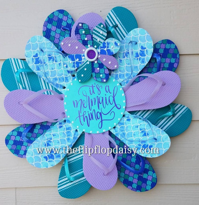 Adorable  It's a Mermaid Thing Flip Flop image 0