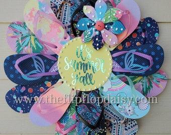 It's Summer Y'all Flip Flop Wreath