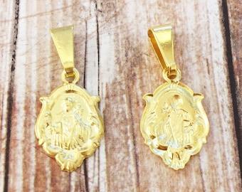Saint pendants etsy quick view aloadofball Image collections