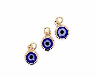 Details about  /Grecian Evil Eye Spiritual Resin Dangling Earrings Small Lightweight 12mm