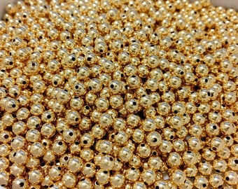 4mm Gold Filled Beads, Pack of 100 Beads, Gold Filled Spacer, 14kt Gold Beads, Gold Filled Bead Supply,Pack of 100,Jewelry Making Supply
