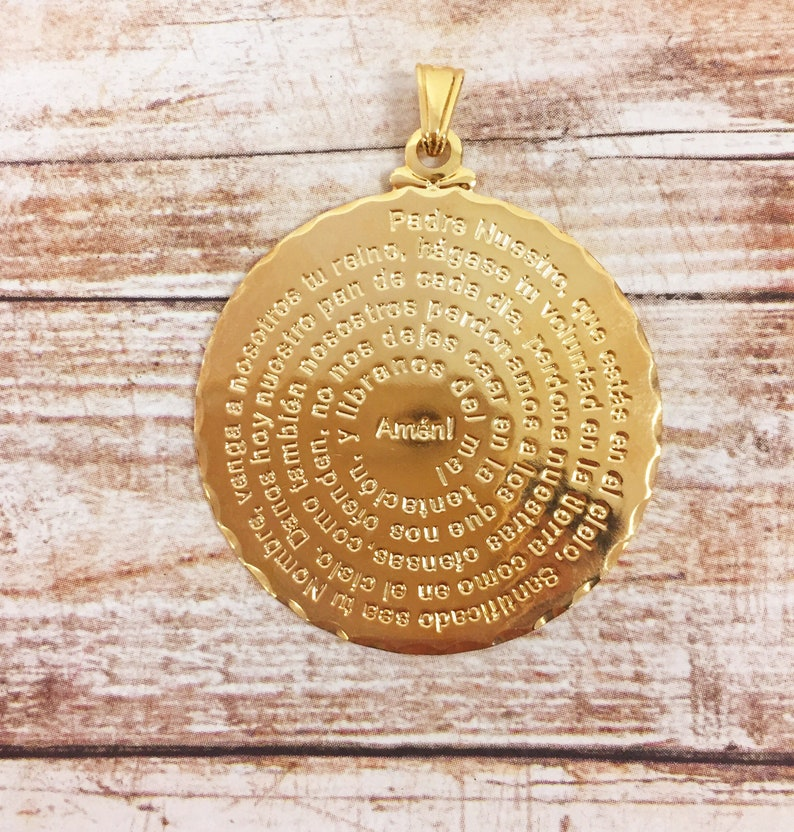 Catholic,Gold Filled,Padre Nuestro Charm,Our Father Prayer Charm,Fathers Prayer Charm,Religious Medals,Our Father Pendant,Catholic Pendant