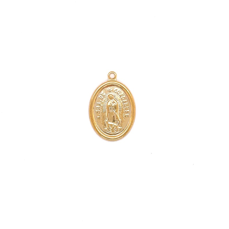 18K GF Guadalupe Religious Medal Pendant for Necklace,Virgen de Guadalupe,Our Lady of Guadalupe Religious Charm,Virgen Guadalupe Jewelry