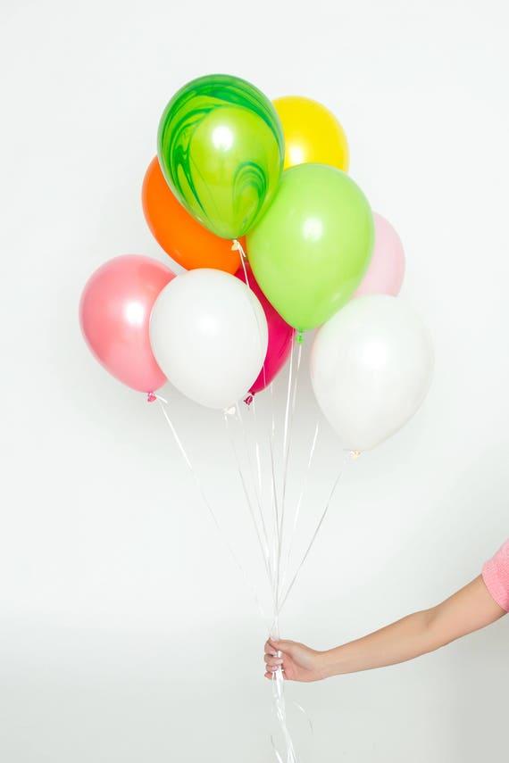 signature balloon set tutti frutti bright fruit colored etsy