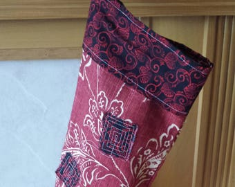 OOAK Fabric Christmas Stocking
