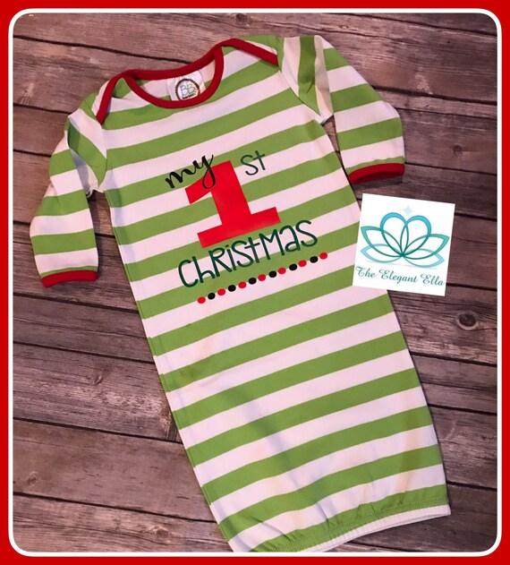 b6c940651 Baby boy 1st christmas pajamas Christmas sleeper gown