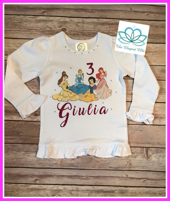 Princess Birthday Shirt Top Personalized