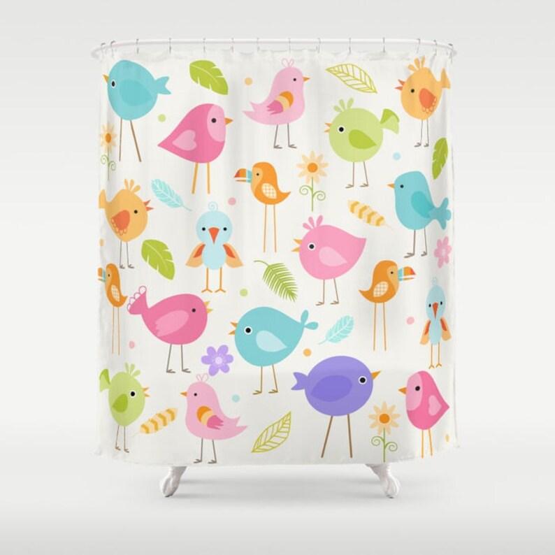 Vögel Duschvorhang Duschvorhang Vogel Vogel Bad | Etsy