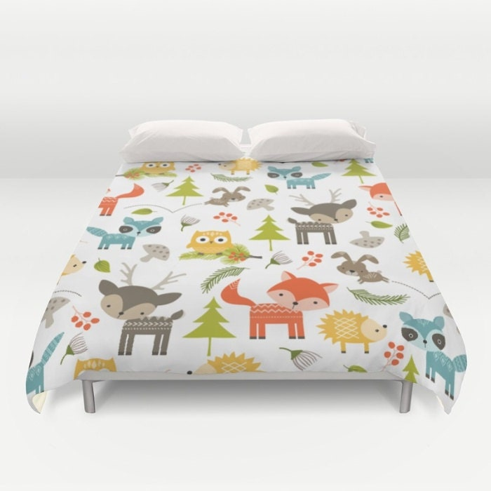 Animal Comforter, Forest Animals Duvet, Animals Duvet, Kids Bedroom, Woodland Animals, Childrens Bedroom, Childs Duvet, Kids Duvet Cover