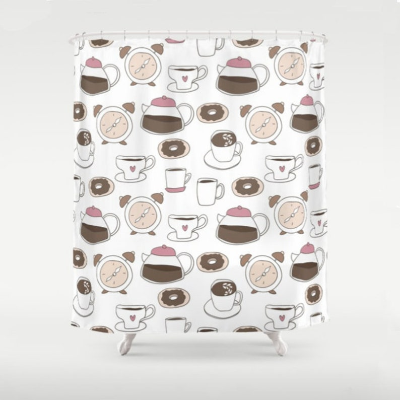 Coffee Shower Curtain Cafe Decor
