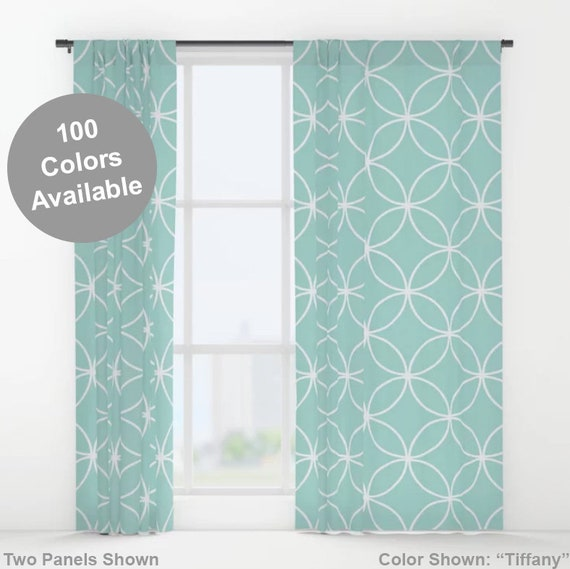 Custom Color Window Curtains, Modern Curtains, Contemporary Curtains,  Curtain Panels, Drapes, Circles Pattern, Living Room Window Treatments