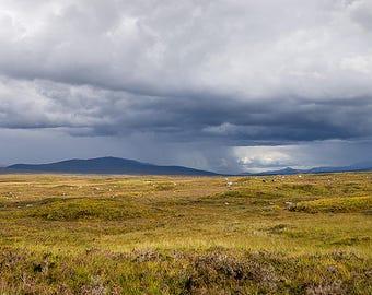 Scottish Highlands Art, Glencoe, Rannoch Moor, Scotland Wall Art, Scotland Landscape, Scottish Moor, Stormy Sky, Weather, Moody, Panorama