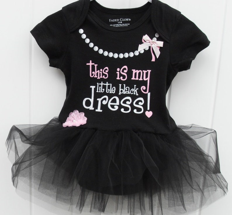 c72405d3b FREE SHIPPING My little black dress bodysuit with black tulle