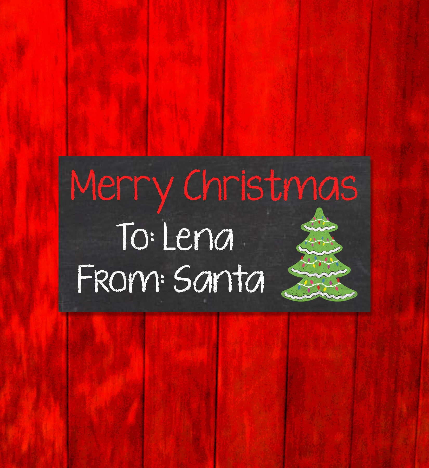 Personalized Merry Christmas From Santa Tags - Christmas Present ...