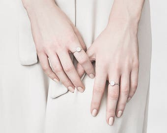 Silver dot ring - Sterling silver