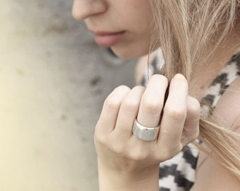 Thick silver ring - Unisex - Brushed or polished