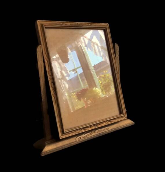 Giratorio de madera Vintage marco tabla superior cuadro marco | Etsy
