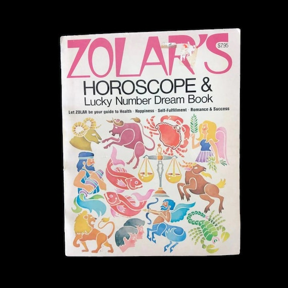 Vintage Astrology Book Zolar Horoscope And Lucky Numbers Dream Book 1971 Dreams 70s Hippie Zodiac Book Astrological Signs Numerology
