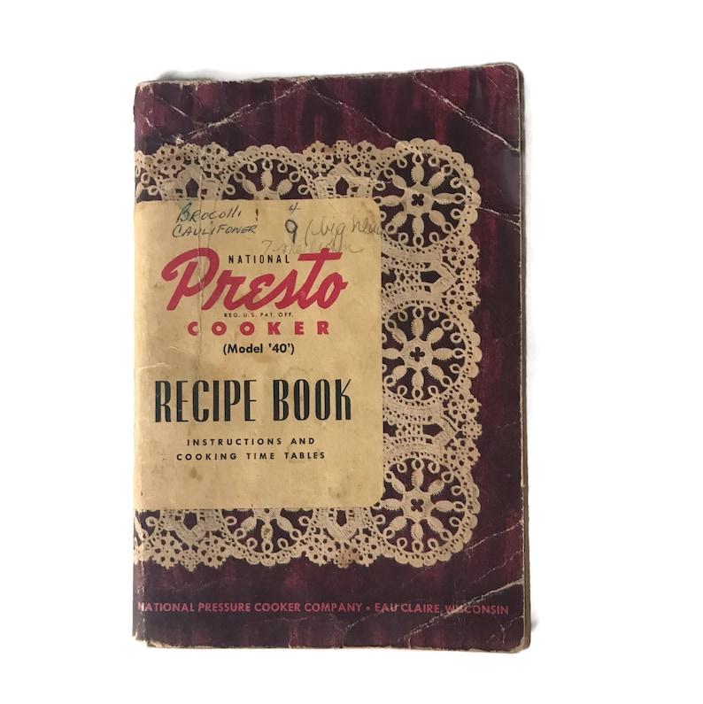 b5b56f62bd082 Vintage 1948 Cookbook, Presto Cooker Recipe Book Promotional Cookbook,  Vintage Presto Pressure Cooker, Vintage Kitchen, 1940s Kitchen