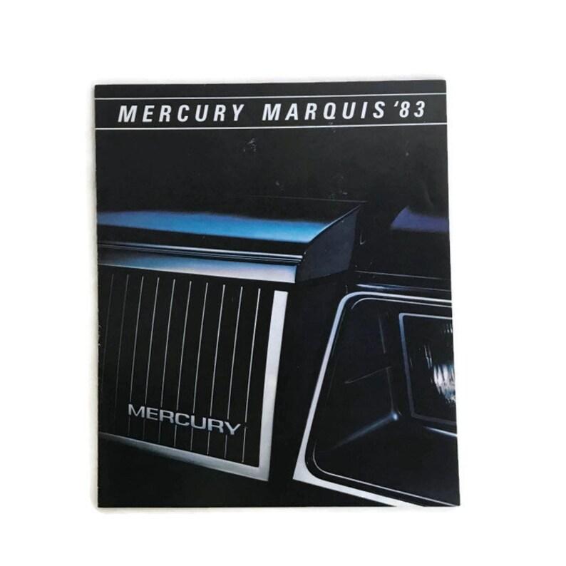 1983 Mercury Marquis Car Dealer Brochure 1980s Auto Vintage Car Advertising  Classic American Auto Automotive Dark Moody Station Wagon