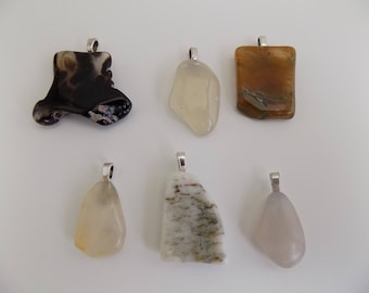 Pacific Northwest Agate and Quartz Pendants