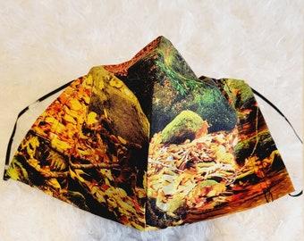 READY SHIP Mask Men XL Nature print