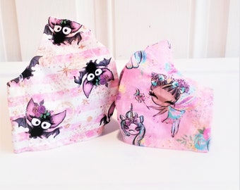Face Mask Set Teen Kids Girls fabric reusable