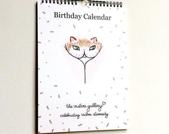 Birthday Calendar / Perpetual Calendar • The Vulva Gallery