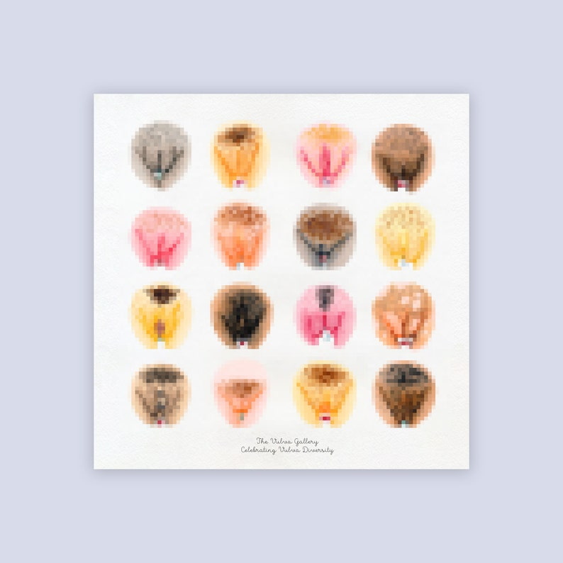 Large Art Print  Happy Period  The Vulva Gallery image 0