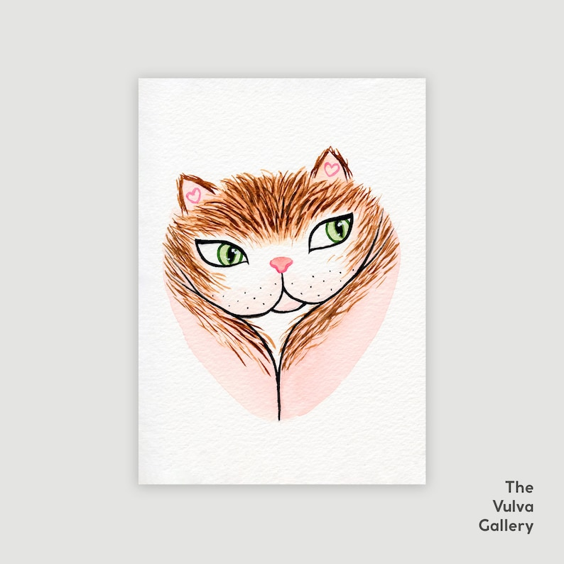 Limited Edition Print  Ginger Vulvacat  The Vulva Gallery image 0