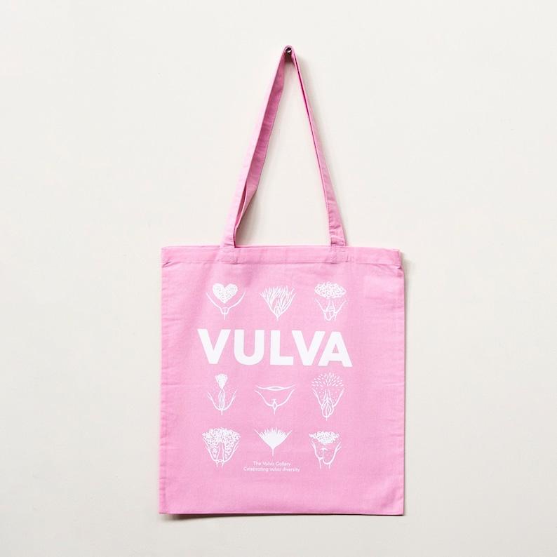 Tote Bag  VULVA  Pink  The Vulva Gallery image 0