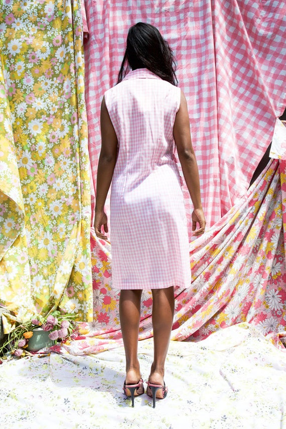 Pink Gingham Day Dress - image 2