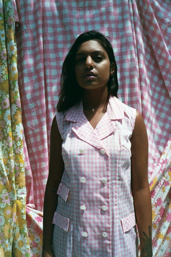 Pink Gingham Day Dress - image 3